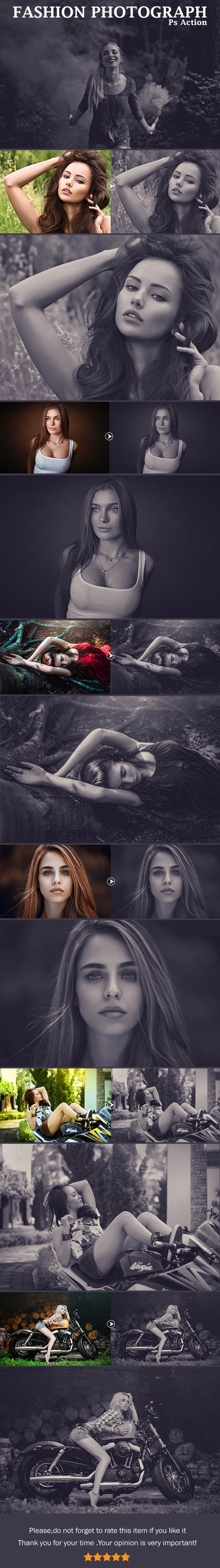 Photoshop Fashion Photograph Action - Photo Effects Actions. Download here: https://graphicriver.net/item/fashion-photograph/18901213?ref=yinkira