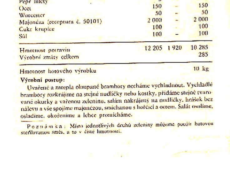 501 42 Vlašský salát - výrobní postup