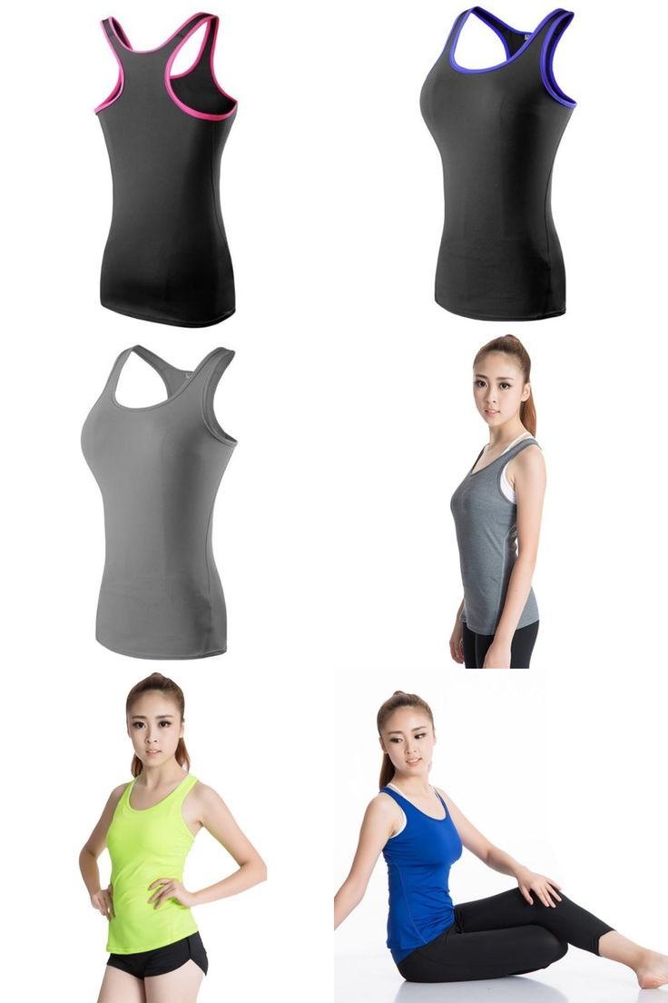 [Visit to Buy] Fitness Running Dancing Clothing Aerobics Gym Sports Women\'s Yoga Vest Tank  #Advertisement