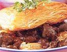 Springbok and Guinness pie