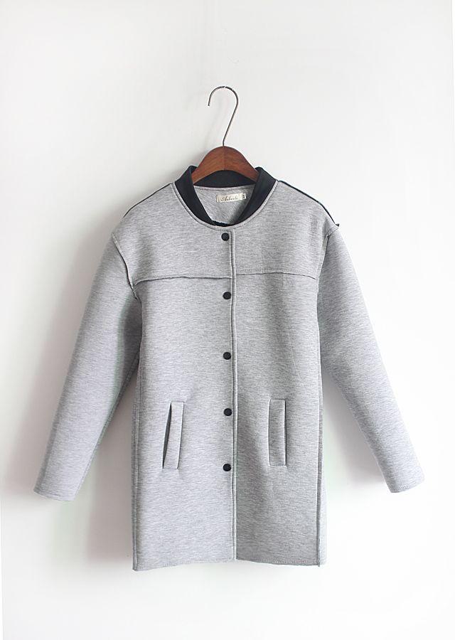 Long neoprene coat