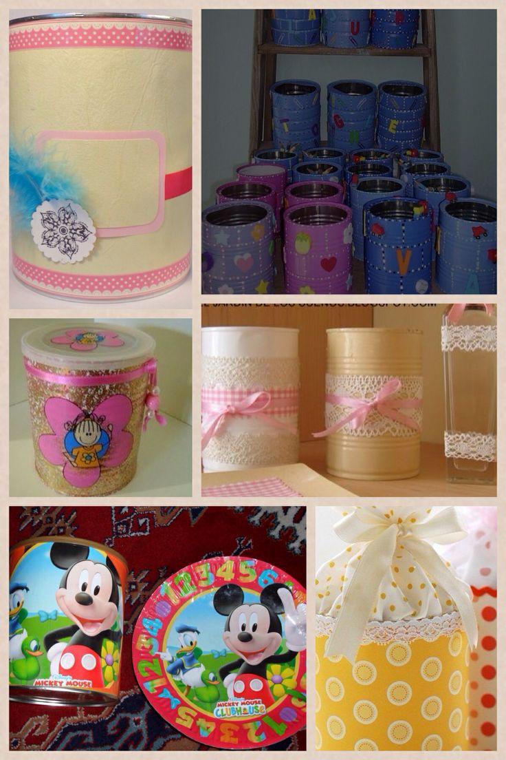 Ideas para decorar latas de formula de leche luianys - Decoracion de unas para navidad ...