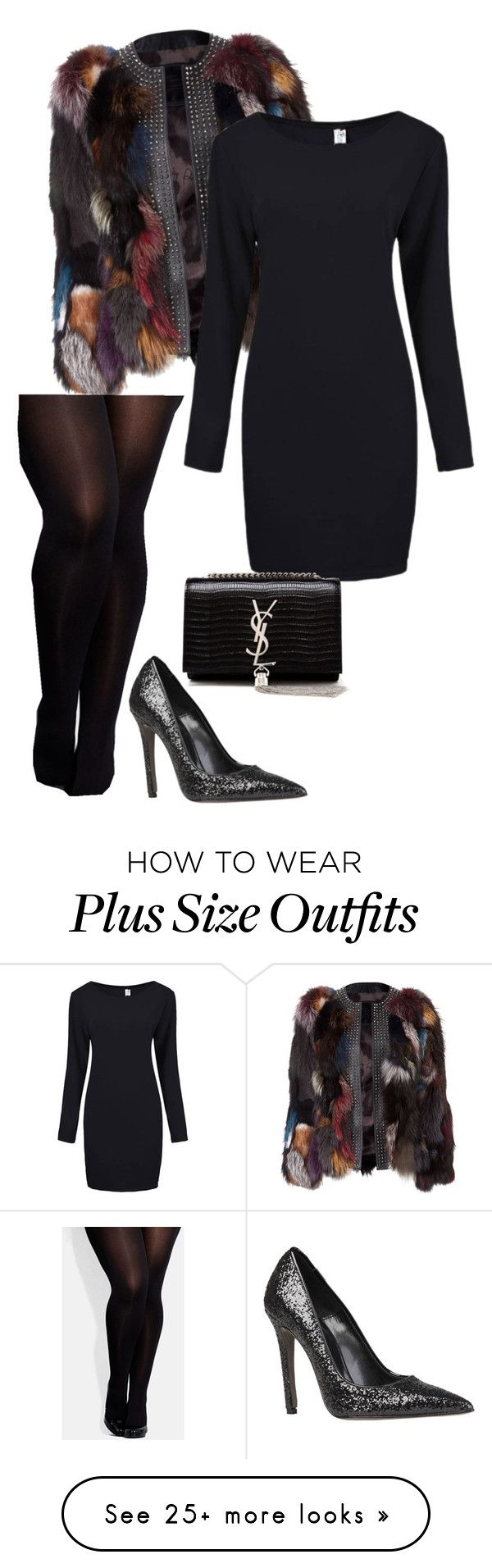 """Plus size Glam (2015 holiday collection)"" by imadivaaa on Polyvore featuring Versace, City Chic and Yves Saint Laurent"