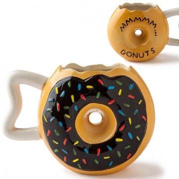 Taza Donut de chocolate - Tienda de regalos originales QueLoVendan.com