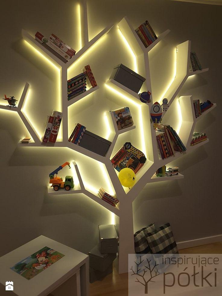 Półka jak drzewo 240x200cm z podświetleniem LED. Wykonuje na zamówienie kontakt marcin.stelma@gmail.com - zdjęcie od Inspirujace półki - Pokój dziecka - Styl Skandynawski - Inspirujace półki