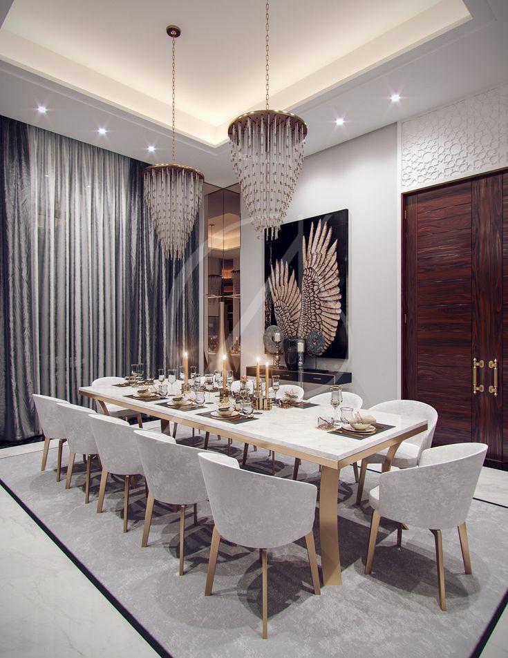 Family Villa Contemporary Arabic Interior Design Riyadh Saudi Arabia Cas Interior Design Dining Room Luxury Dining Room Dining Room Interiors
