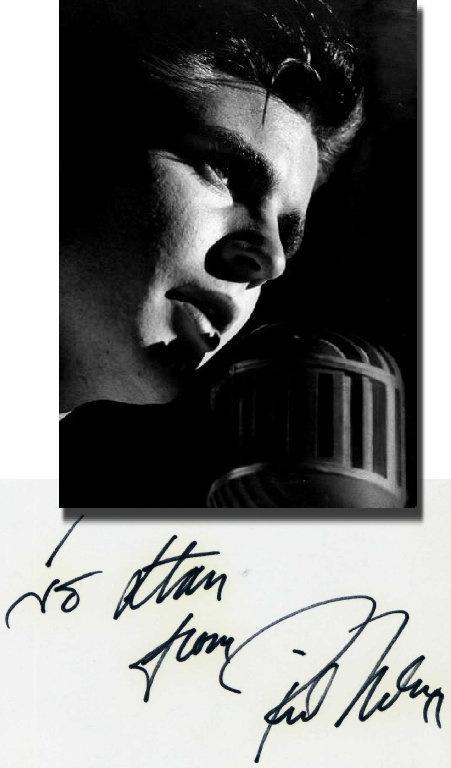 Rick Ricky Nelson Hand Signed 3x5 Index Card Unsigned Photo JSA COA   eBay