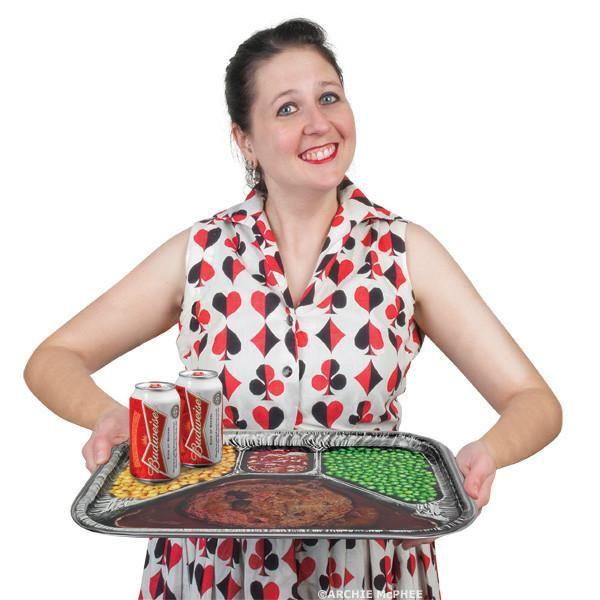 TV Dinner Metal Serving Tray - Archie McPhee - 2