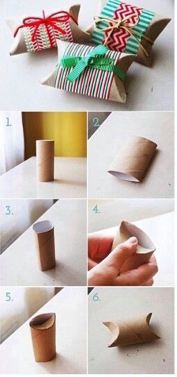 Got something little that you want to wrap? How about saving the wrapping paper and making one of these cute toilet roll gift boxes instead? #Christmas