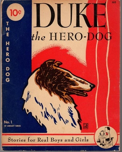Duke World War II Hero Dog Vintage Collie Dog Story Book for Children