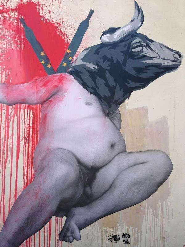 Αστική τέχνη από Vinz στη Μαδρίτη, Ισπανία