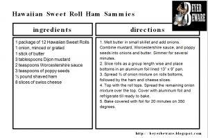 King's Hawaiian Roll Ham Sandwiches