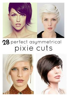 28 perfectos cortes asimétricas de duendecillo - 28 Perfect asymmetrical pixie cuts.