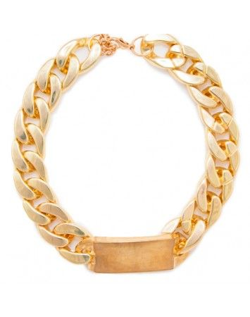 Popetto Gold Chunky ID Necklace