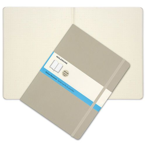 NEW-Moleskine-Classic-Soft-Cover-X-Large-Dotted-Notebook-Khaki