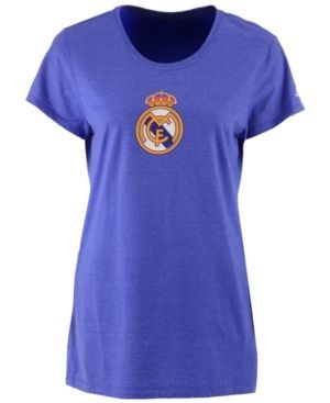 adidas Women's Real Madrid International Soccer Club Team Crest T-Shirt - Blue XL