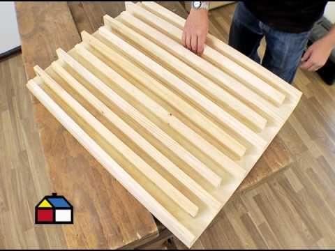 ¿Cómo construir un escritorio plegable?