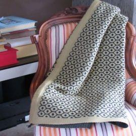 Diamond Knit Throw - Mustard