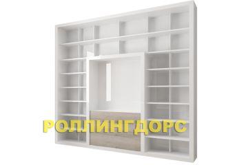 Книжный шкаф + стенка + тумба под ТВ и все в белом глянце! красота ))