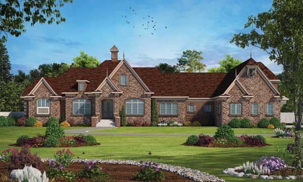 French-country Style Floor Plans Plan 10-1853 House plans in 2018