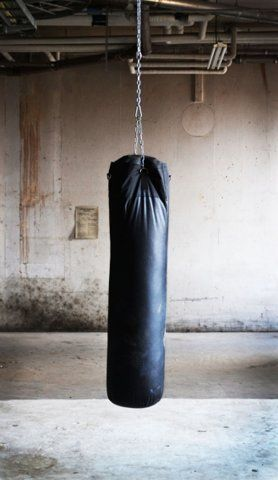 """It's not spiritual to hold in your anger. That will only make you sick. Get it out appropriately with a punch bag. Go ahead and yell and scream too!"" -- Boy if I had one, I would be the happiest and most fit girl in the WORLD! :)"