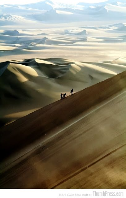 Nazca Desert, Peru - blue sky and sand dunes can be quite intoxicating. A very mystical experience.