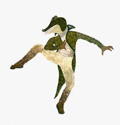 Crocodile costume design, Diane Winesburg - Peter Pan Ballet