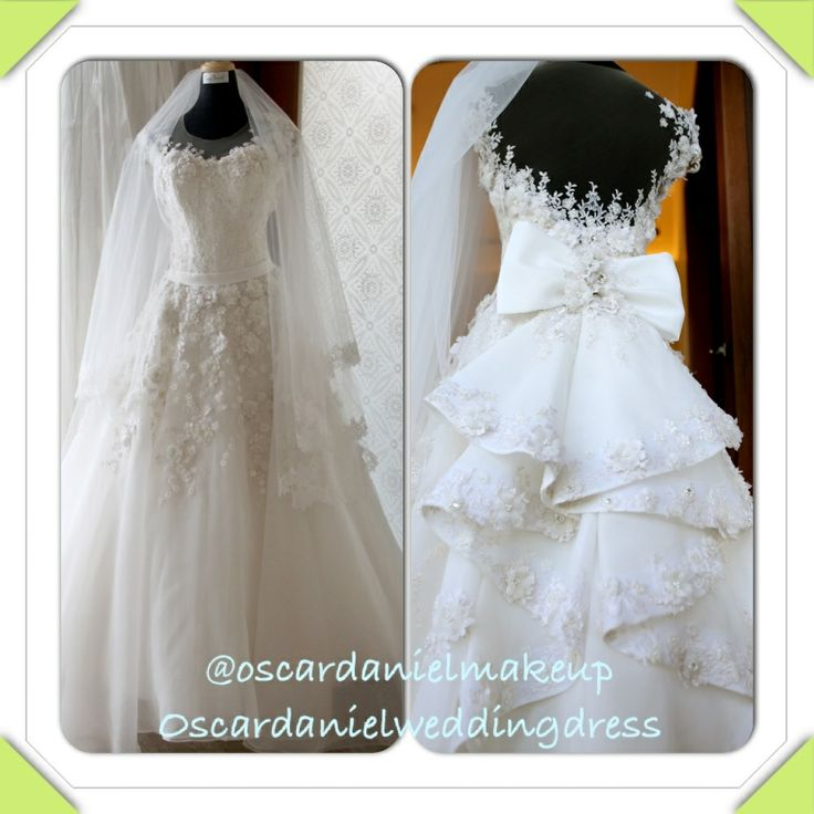 @oscardanielamkeup wedding dress