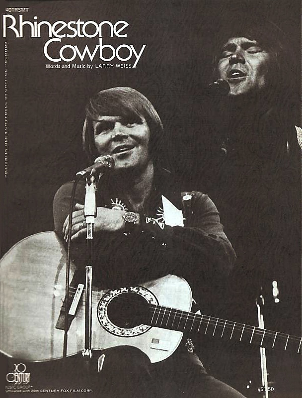 "Glen Campbell ""Rhinestone Cowboy"" (1975) Original Sheet Music"