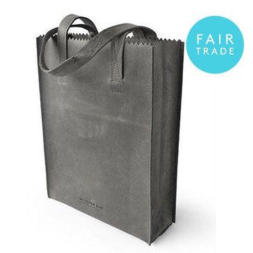 MYOMY Paper Bag Long Handle - Off Black