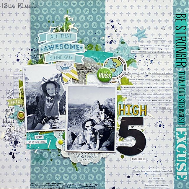 High 5 | Scrap the Boys January 2017 | Sue Plumb