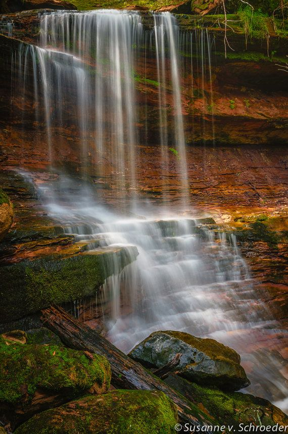 Nature Photography Waterfall Houghton by SoulCenteredPhotoart, $22.00