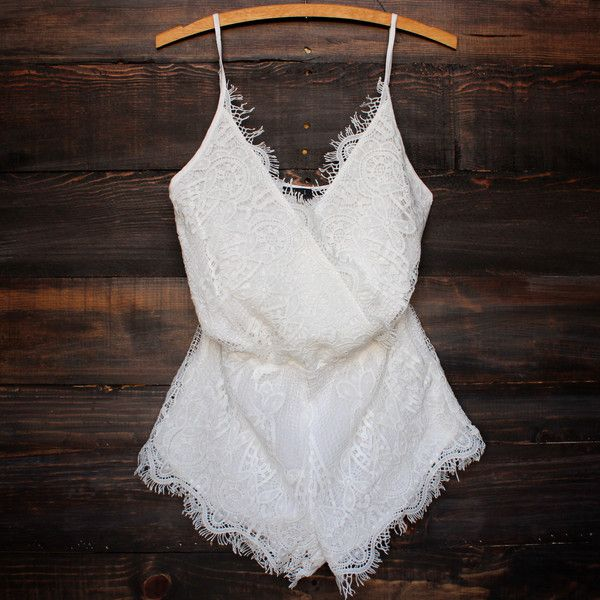 boheme bohemian boho chic lace romper white cute spring and summer outfit