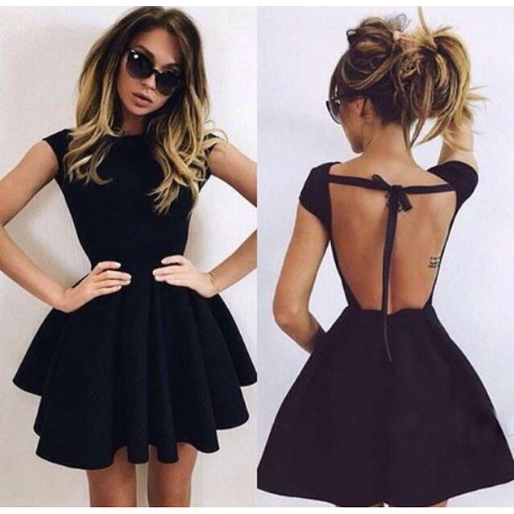 Черные короткие платья пошив
