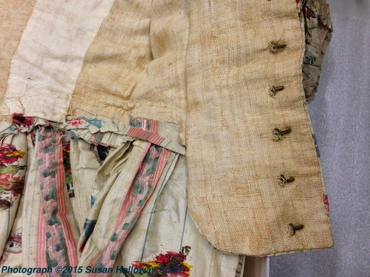 Detail, Gown, silk, 1777. Collection, Massachusetts Historical Society. Photographs ©2015 Susan Holloway Scott. Two Nerdy History Girls: Fashionable Survivor: A Rare Silk Damask Gown, 1777