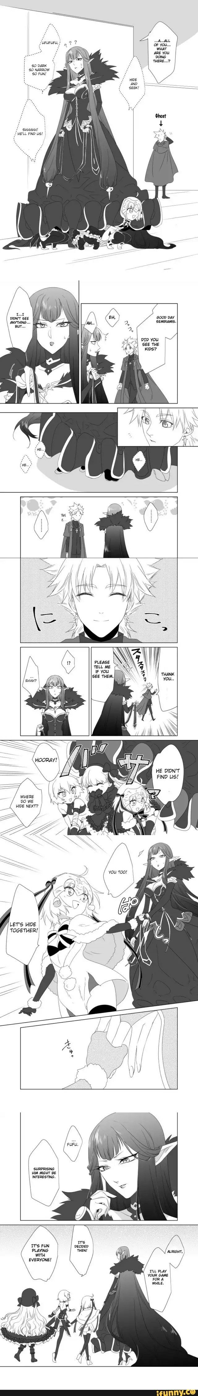 Moments like these I love the fate series. A serial killer, a saint, and a book hiding under a queens cloak