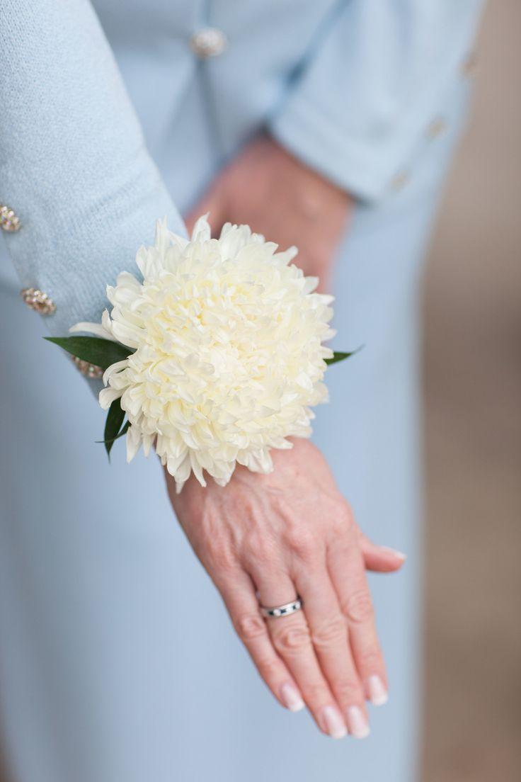 Brittany & Jeff | Wedding in Tampa Bay | Football Mum white corsage.  #andrealaynefloraldesign #tampaweddings