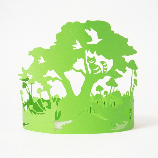 forest paper crown
