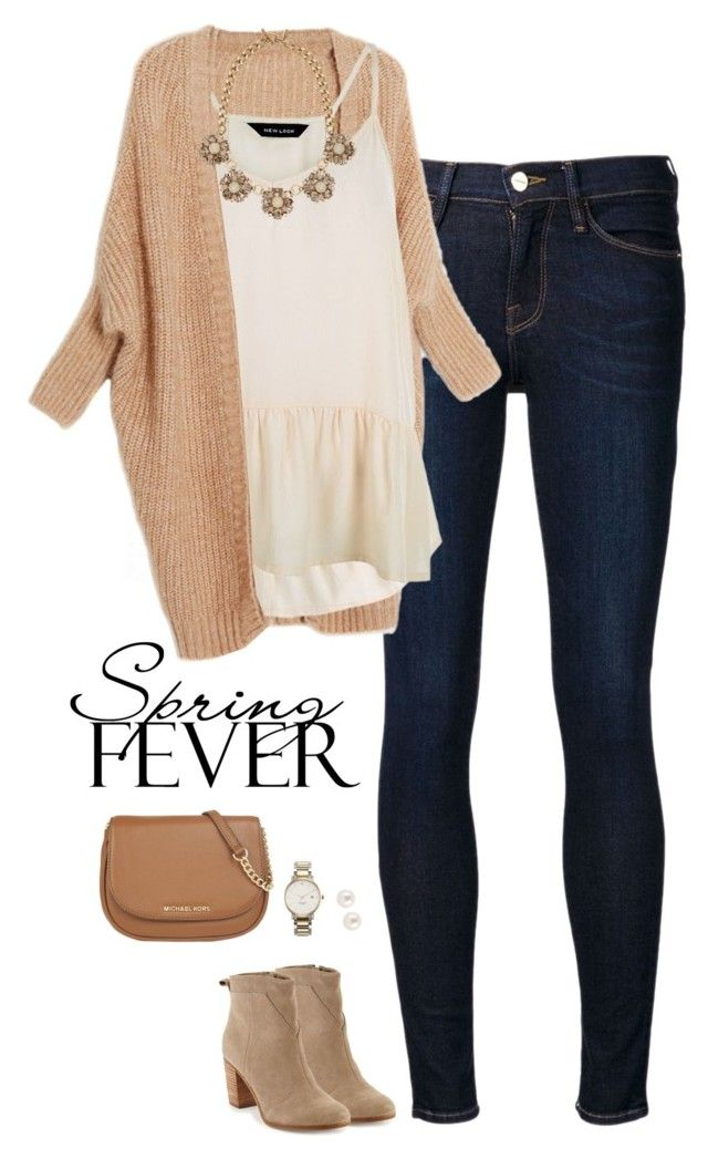 Spring Fever Ruffles by steffiestaffie on Polyvore featuring polyvore, fashion, style, Frame Denim, TOMS, MICHAEL Michael Kors, Ann Taylor, Kate Spade, Henri Bendel, clothing and ruffles
