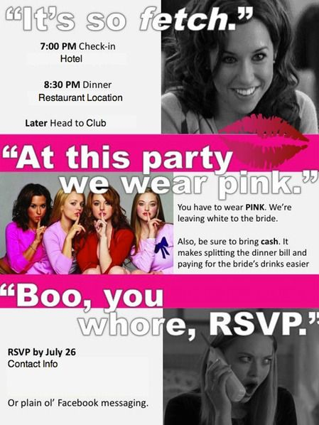 mean girls party invitation