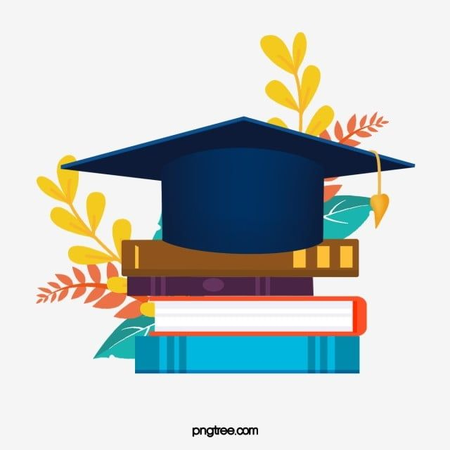 Cartoon Hand Drawn Graduation Cap Illustration Graduation Cap Book Plant Png Transparent Clipart Image And Psd File For Free Download How To Draw Hands Illustration Santa Hat Vector