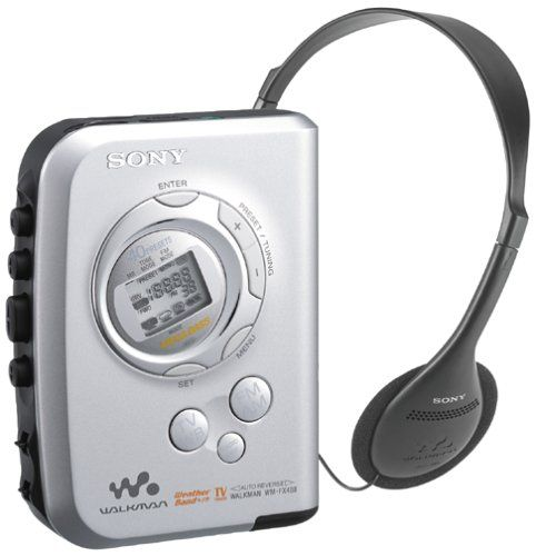 Sony WM-FX488 Walkman Stereo Cassette Player with TV and Weather Channel Reception