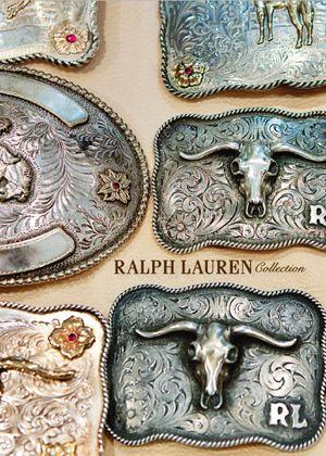 Ralph Lauren belt buckles.