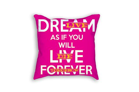 Dream As If You Will Leave Forever - Outdoor Throw Pillow for summer