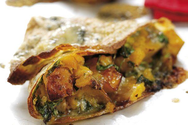 Squash and Stilton pancakes recipe - goodtoknow