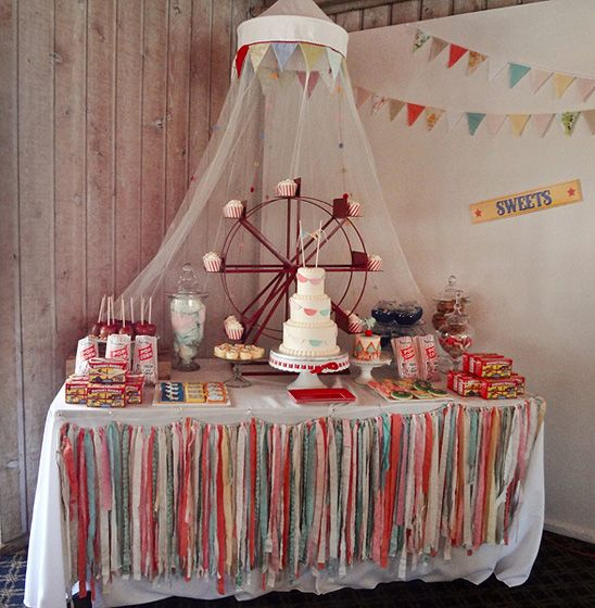 Emily's Vintage Circus Themed Birthday Party: great ideas for decor and food table.