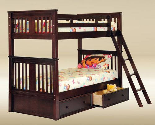 For Gary Xl Extra Long Twin Bunk Bed Available In White Black Blue