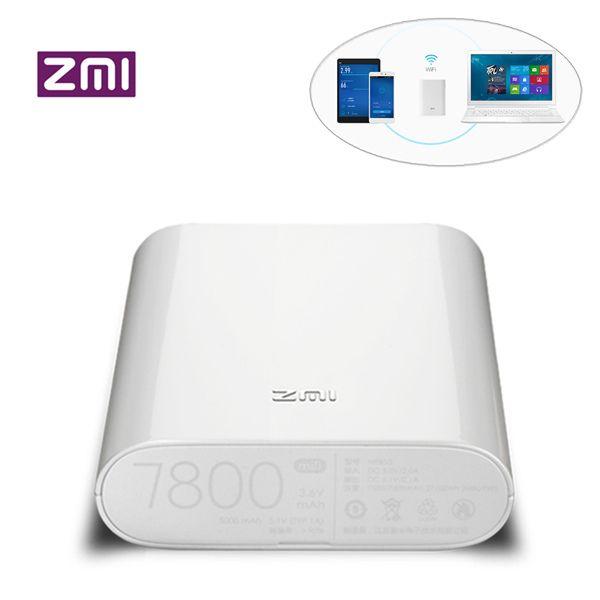 Original Xiaomi ZMI MF855 7800mAh 120Mbps 3G 4G Wireless WiFi Router Power Bank