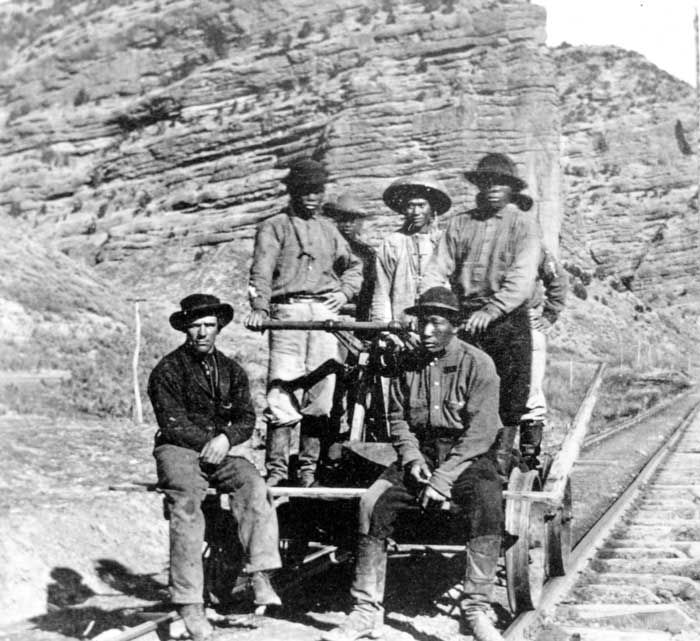 asian railroad workers