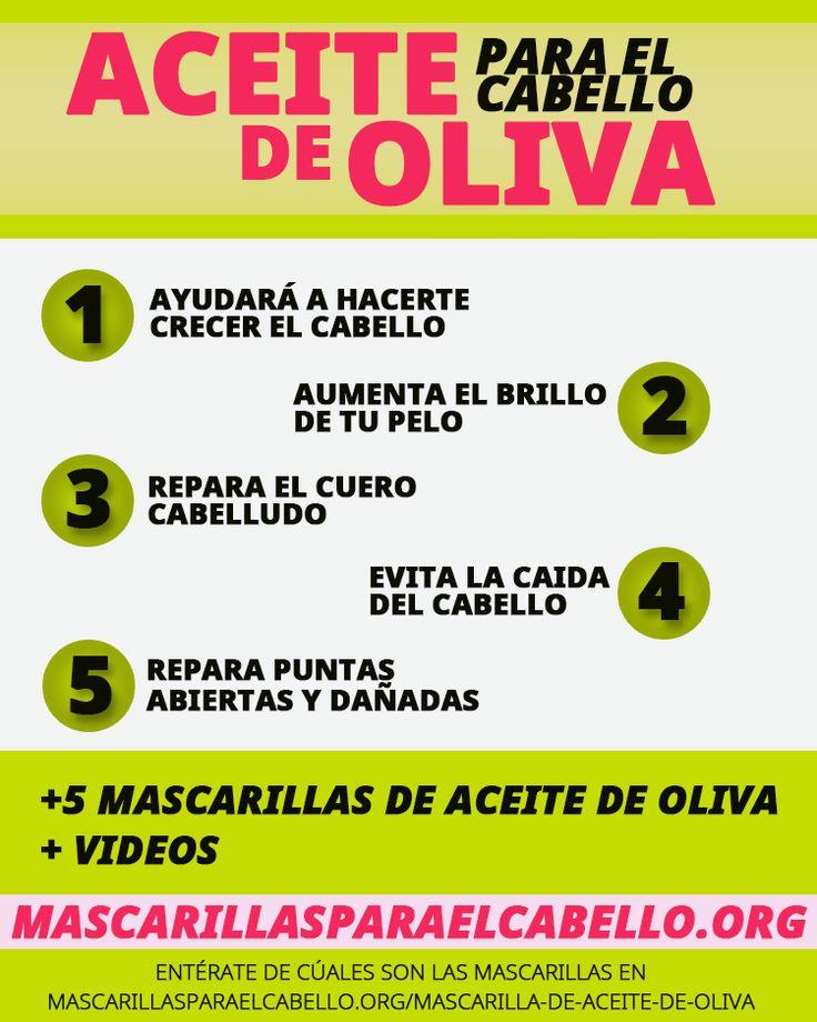 Descubre las Bondades del Aceite de Oliva en el Cabello. Más de 5 Mascarillas de Aceite de Oliva para el Cabello, te ayudará a hacer crecer el cabello, hidratarlo, fortalecerlo y reparar las puntas abiertas.